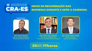 Read more about the article Webinar: Especialistas convidados do CRA-ES prestam orientação