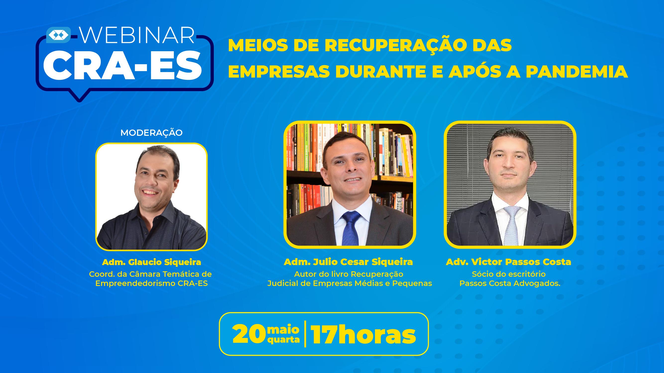 You are currently viewing Webinar: Especialistas convidados do CRA-ES prestam orientação