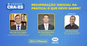 Read more about the article WEBINAR | RECUPERAÇÃO JUDICIAL NA PRÁTICA: O QUE DEVO SABER?