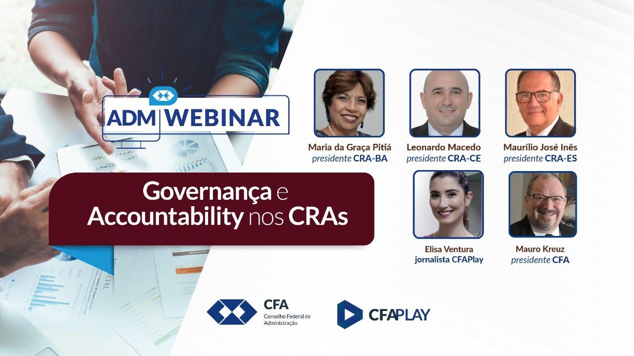 Webinar | Governança e Accountability nos CRAs.