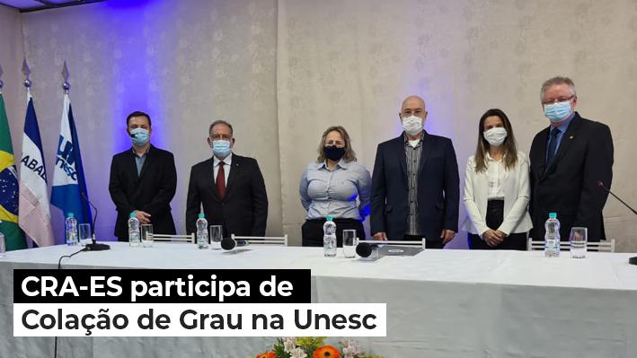 You are currently viewing CRA-ES participa de Colação de Grau no Centro Universitário do Espírito Santo