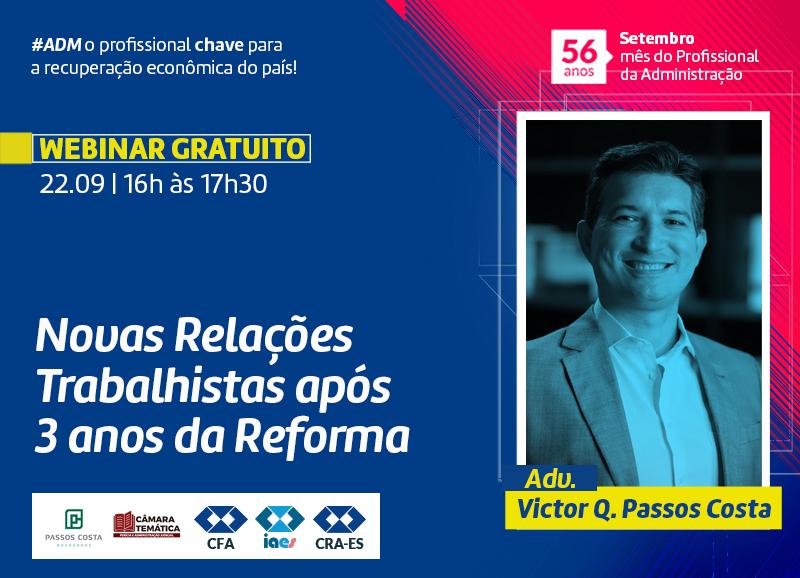Read more about the article Webinar Gratuito: Novas Relações Trabalhistas após 3 anos da Reforma