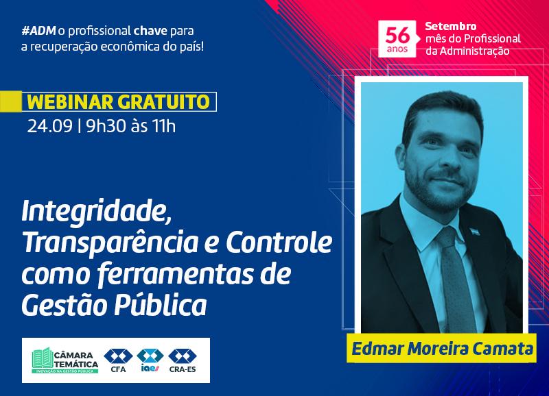 Read more about the article Webinar: Integridade, Transparência e Controle como ferramentas de Gestão Pública