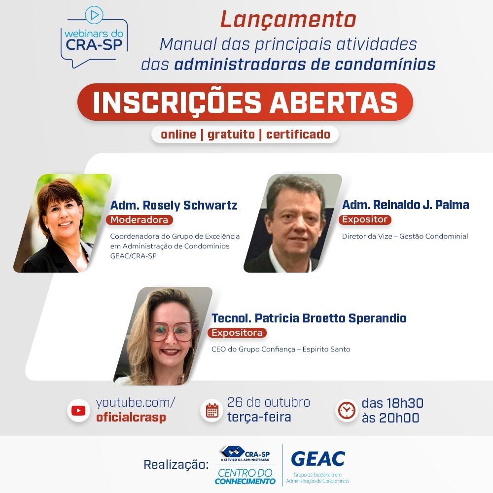 Read more about the article Lançamento – Manual das principais atividades das administradoras de condomínios